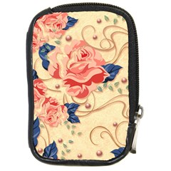 Beautiful Pink Roses  Compact Camera Cases by Brittlevirginclothing