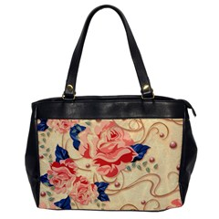 Beautiful Pink Roses  Office Handbags by Brittlevirginclothing