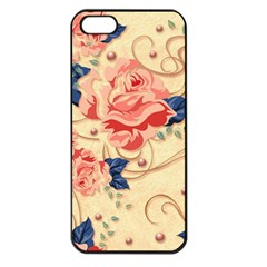 Beautiful Pink Roses Apple Iphone 5 Seamless Case (black) by Brittlevirginclothing