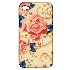 Beautiful Pink Roses Apple Iphone 4/4s Hardshell Case (pc+silicone) by Brittlevirginclothing