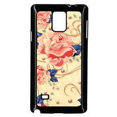 Beautiful Pink Roses Samsung Galaxy Note 4 Case (black) by Brittlevirginclothing
