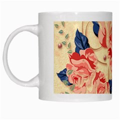 Beautiful Pink Roses White Mugs by Brittlevirginclothing