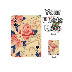 Beautiful Pink Roses Playing Cards 54 (mini)  by Brittlevirginclothing