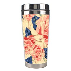 Beautiful Pink Roses Stainless Steel Travel Tumblers by Brittlevirginclothing