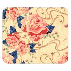 Beautiful Pink Roses Double Sided Flano Blanket (small)  by Brittlevirginclothing
