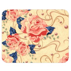 Beautiful Pink Roses Double Sided Flano Blanket (medium)  by Brittlevirginclothing