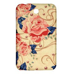 Beautiful Pink Roses Samsung Galaxy Tab 3 (7 ) P3200 Hardshell Case  by Brittlevirginclothing