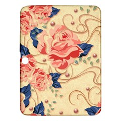 Beautiful Pink Roses Samsung Galaxy Tab 3 (10 1 ) P5200 Hardshell Case  by Brittlevirginclothing