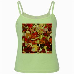 Abstract Abstraction Pattern Moder Green Spaghetti Tank