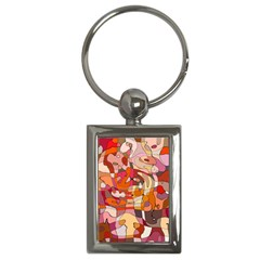 Abstract Abstraction Pattern Moder Key Chains (rectangle)