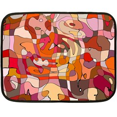 Abstract Abstraction Pattern Moder Double Sided Fleece Blanket (mini)