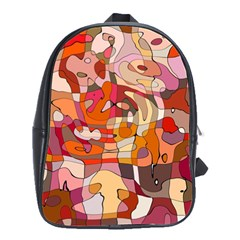 Abstract Abstraction Pattern Moder School Bags(large)