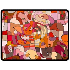 Abstract Abstraction Pattern Moder Fleece Blanket (large)