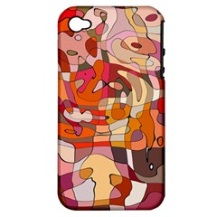Abstract Abstraction Pattern Moder Apple Iphone 4/4s Hardshell Case (pc+silicone)