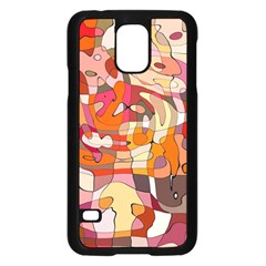 Abstract Abstraction Pattern Moder Samsung Galaxy S5 Case (black)
