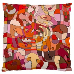 Abstract Abstraction Pattern Moder Large Flano Cushion Case (two Sides)