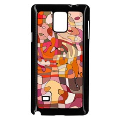 Abstract Abstraction Pattern Moder Samsung Galaxy Note 4 Case (black)