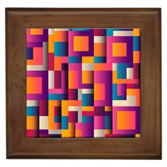 Abstract Background Geometry Blocks Framed Tiles