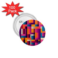 Abstract Background Geometry Blocks 1 75  Buttons (100 Pack)  by Amaryn4rt