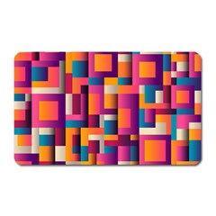 Abstract Background Geometry Blocks Magnet (rectangular)