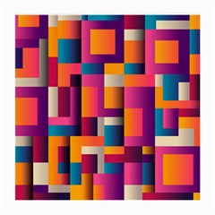 Abstract Background Geometry Blocks Medium Glasses Cloth (2 Side) by Amaryn4rt