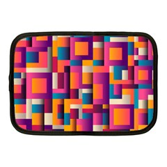 Abstract Background Geometry Blocks Netbook Case (medium)  by Amaryn4rt