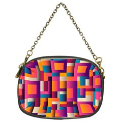 Abstract Background Geometry Blocks Chain Purses (one Side)  by Amaryn4rt