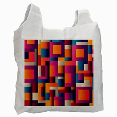 Abstract Background Geometry Blocks Recycle Bag (one Side)
