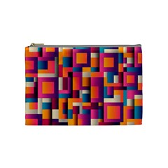 Abstract Background Geometry Blocks Cosmetic Bag (medium)  by Amaryn4rt