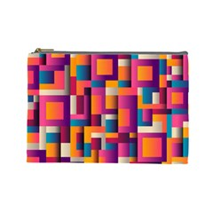 Abstract Background Geometry Blocks Cosmetic Bag (large)