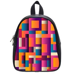Abstract Background Geometry Blocks School Bags (small)  by Amaryn4rt
