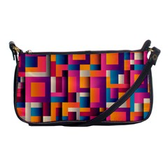 Abstract Background Geometry Blocks Shoulder Clutch Bags