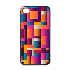 Abstract Background Geometry Blocks Apple Iphone 4 Case (black) by Amaryn4rt