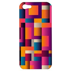Abstract Background Geometry Blocks Apple Iphone 5 Hardshell Case