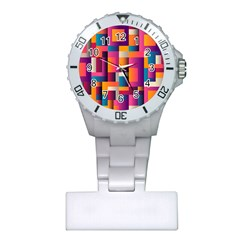Abstract Background Geometry Blocks Plastic Nurses Watch
