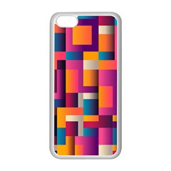 Abstract Background Geometry Blocks Apple Iphone 5c Seamless Case (white) by Amaryn4rt