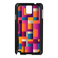 Abstract Background Geometry Blocks Samsung Galaxy Note 3 N9005 Case (black)
