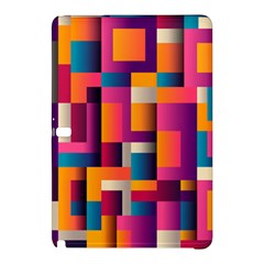 Abstract Background Geometry Blocks Samsung Galaxy Tab Pro 10 1 Hardshell Case