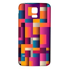 Abstract Background Geometry Blocks Samsung Galaxy S5 Back Case (white)