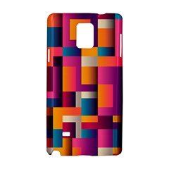 Abstract Background Geometry Blocks Samsung Galaxy Note 4 Hardshell Case