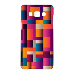 Abstract Background Geometry Blocks Samsung Galaxy A5 Hardshell Case