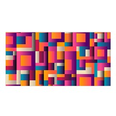 Abstract Background Geometry Blocks Satin Shawl