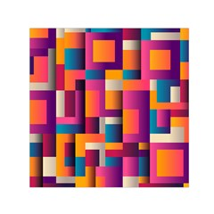 Abstract Background Geometry Blocks Small Satin Scarf (square) by Amaryn4rt