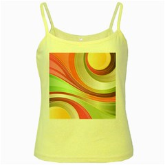 Abstract Colorful Background Wavy Yellow Spaghetti Tank by Amaryn4rt