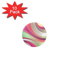 Abstract Colorful Background Wavy 1  Mini Magnet (10 Pack)