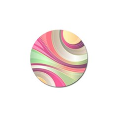 Abstract Colorful Background Wavy Golf Ball Marker (10 Pack) by Amaryn4rt