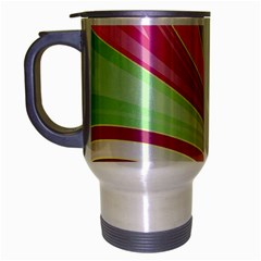 Abstract Colorful Background Wavy Travel Mug (silver Gray) by Amaryn4rt