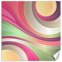 Abstract Colorful Background Wavy Canvas 12  X 12   by Amaryn4rt