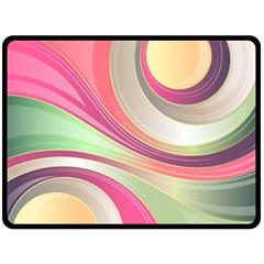 Abstract Colorful Background Wavy Fleece Blanket (large)  by Amaryn4rt