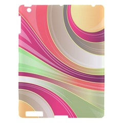 Abstract Colorful Background Wavy Apple Ipad 3/4 Hardshell Case by Amaryn4rt
